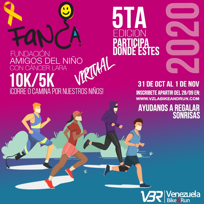 5ta CARRERA CAMINATA 10k 5k FANCA VIRTUAL